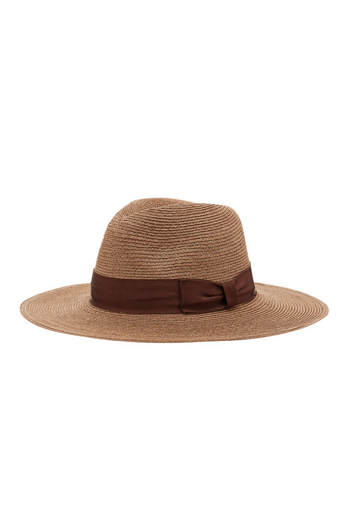 Hemp Wide Brim Pinkbrown